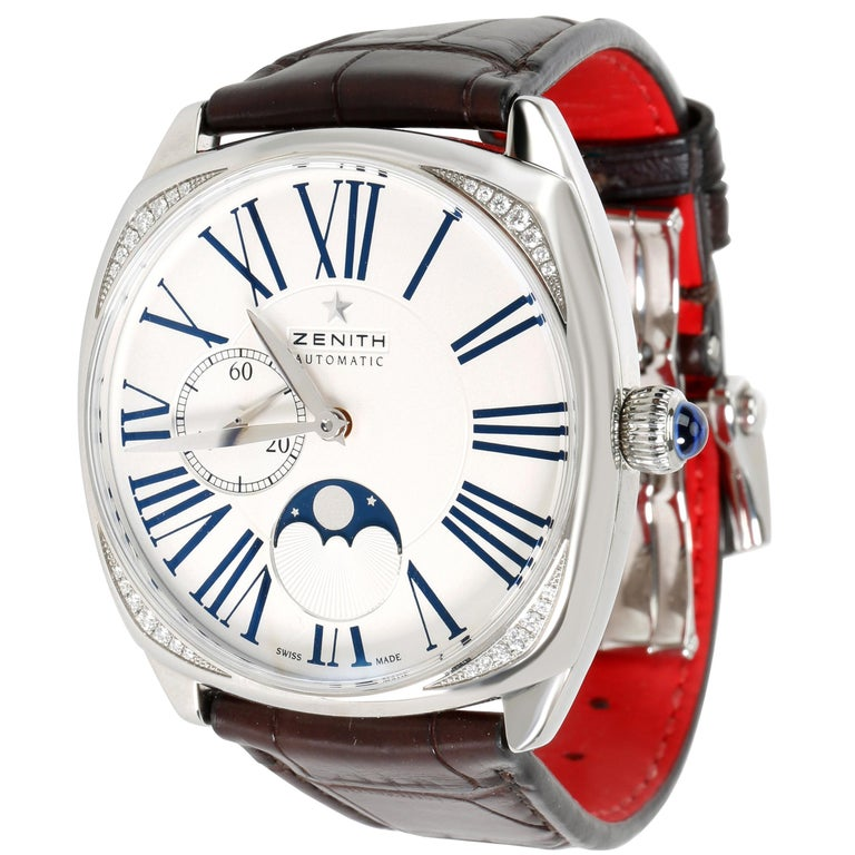 Zenith Star Moonphase 16.1925.692 Unisex Watch in Stainless Steel For Sale