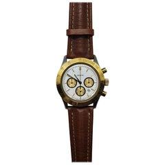 Zenith Steel and Gold Quartz Cronograph Wrist Watch Ref.38.0010.430, 1990s