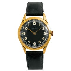 Zenith Vintage No-ref#, Black Dial, Certified and Warranty