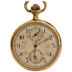 Zenith Zakhorloge in 14 Karat Geelgoud, Chronograaf Complicatie, circa 1930