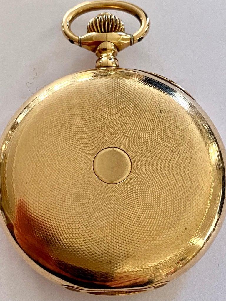 Zenith Zakhorloge in 14 Karat Geelgoud, Chronograaf Complicatie, circa 1930 For Sale 3