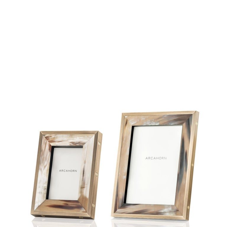 Burnished Zeno Picture Frame in Corno Italiano and Black Oak Veneer, Mod. 5252 For Sale