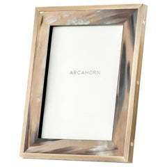 Zeno Picture Frame in Corno Italiano and Black Oak Veneer, Mod. 5252