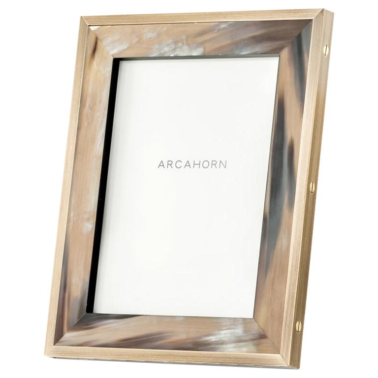 Zeno Picture Frame in Corno Italiano and Black Oak Veneer, Mod. 5252 For Sale