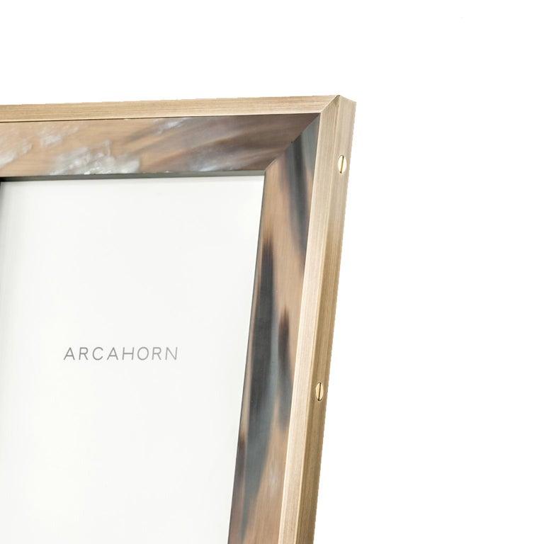 Contemporary Zeno Picture Frame in Corno Italiano and Black Oak Wood, Mod. 5253 For Sale