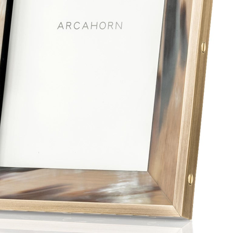 Zeno Picture Frame in Corno Italiano and Black Oak Wood, Mod. 5253 For Sale 1