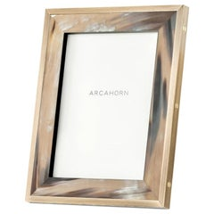 Zeno Picture Frame in Corno Italiano and Black Oak Wood, Mod. 5253