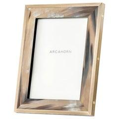Zeno Picture Frame in Corno Italiano and Black Oak Wood, Mod. 5253
