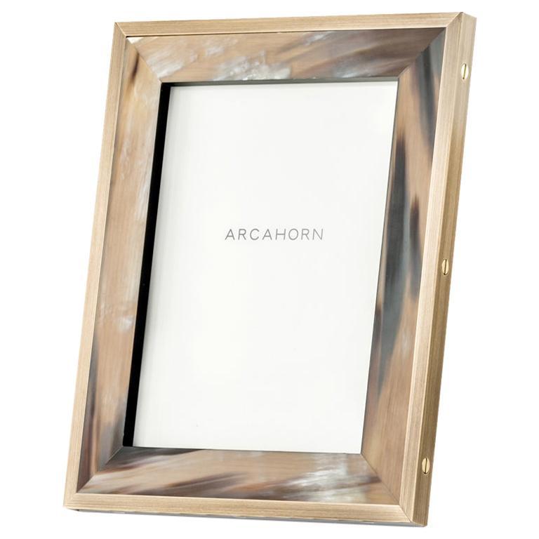 Zeno Picture Frame in Corno Italiano and Black Oak Wood, Mod. 5253 For Sale