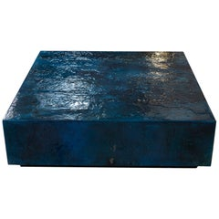 Zenoni for Flair Blue Resin Coffee Table, Italy, 2019