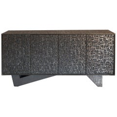 Zenoni for Flair Bronze Resin and Jute Fusion Sideboard, Italy, 2019
