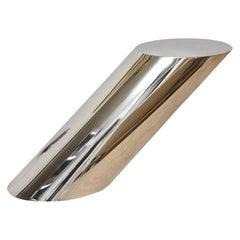 Zephyr J. Wade Beam for Brueton Stainless Steel Side Table