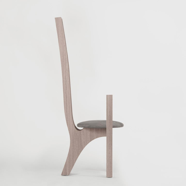 Zero, 21st Century Chair in Wood and Leather For Sale 4
