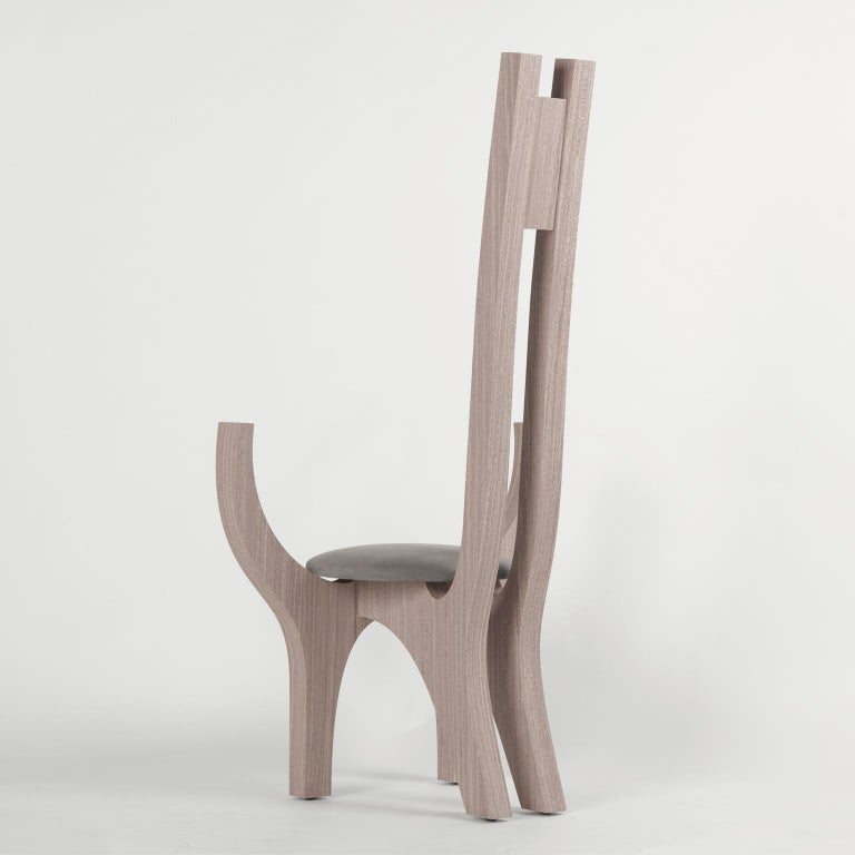 Zero, 21st Century Chair in Wood and Leather In New Condition For Sale In Milano, IT