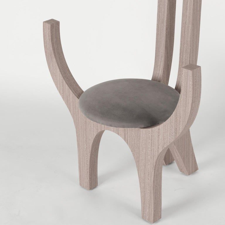 Zero, 21st Century Chair in Wood and Leather For Sale 1