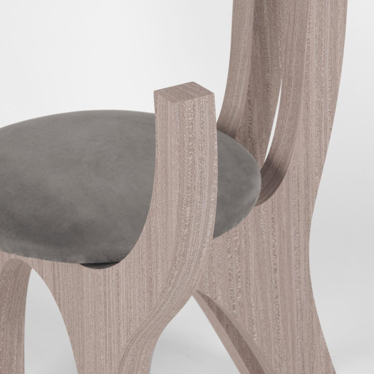 Zero, 21st Century Chair in Wood and Leather For Sale 3
