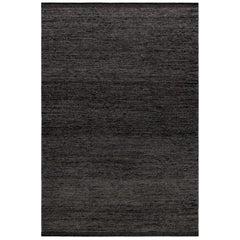 Zero Anthracite Mix Handwoven Wool Rug