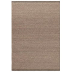 Zero Brown Handwoven Wool Rug
