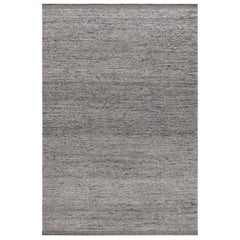 Zero Gray Mix Handwoven Wool Rug
