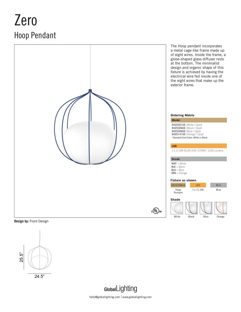 Zero LED Hoop Pendant by Front Design For Sale 3