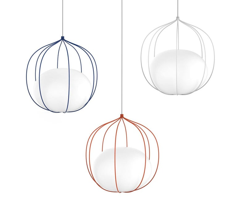 Contemporary Zero LED Hoop Pendant by Front Design For Sale