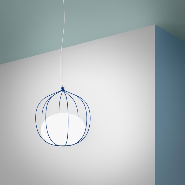 Metal Zero LED Hoop Pendant by Front Design For Sale