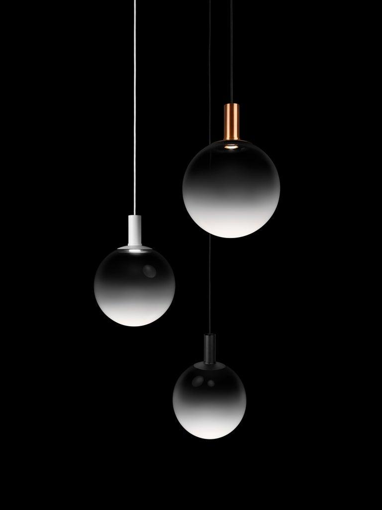 Modern Zero Medium Fog Pendant in Black by Front Design, 1stdibs NY For Sale