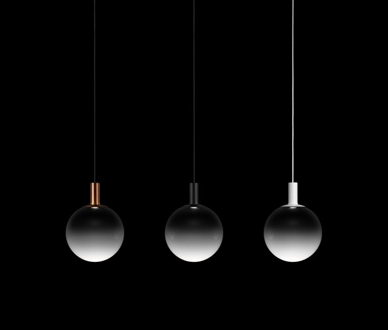 Zero Medium Fog Pendant in Black by Front Design, 1stdibs NY In New Condition For Sale In Yonkers, NY