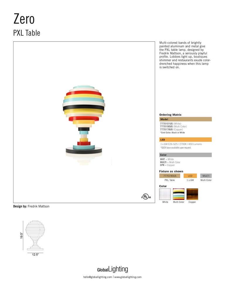 Zero PXL Table Lampe in Multi-Color von Fredrik Mattson 4