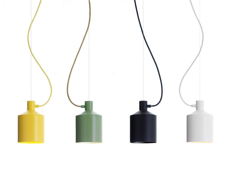 Modern Zero Silo Pendant in Black by Note Design Studio For Sale