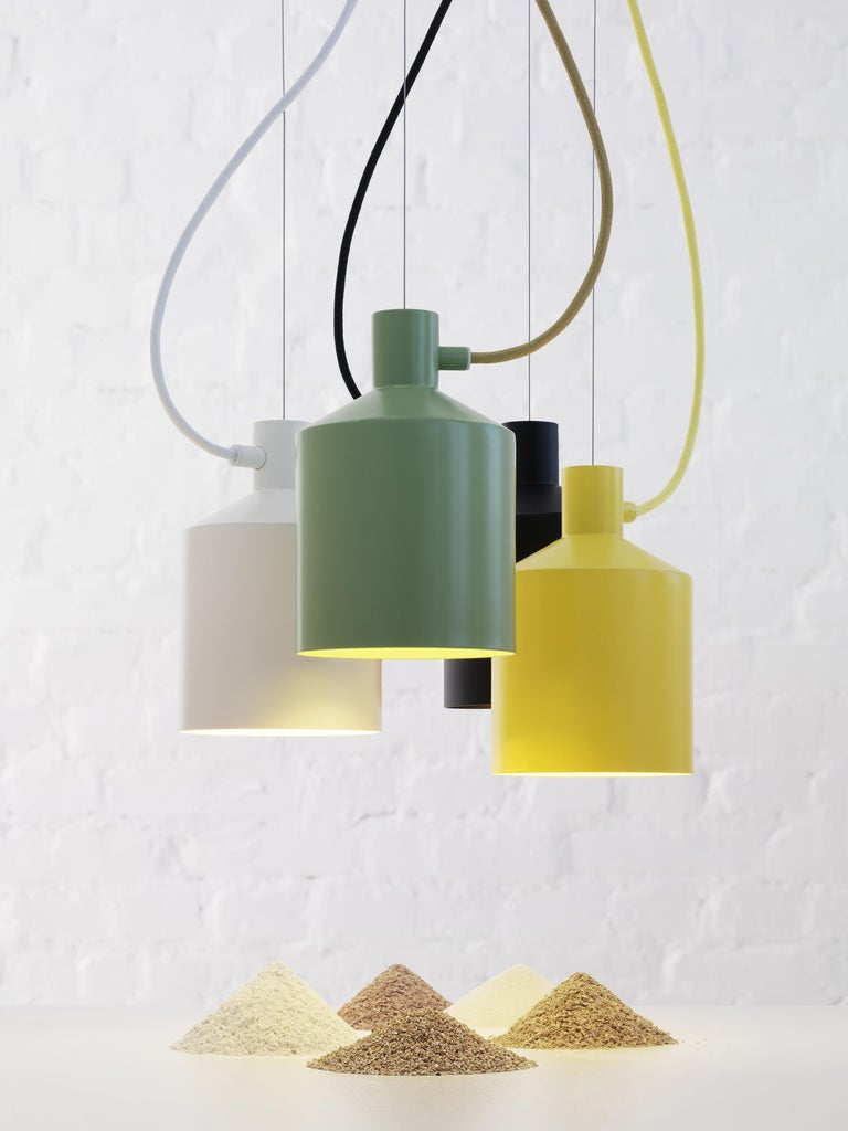 Swedish Zero Silo Pendant in Black by Note Design Studio For Sale