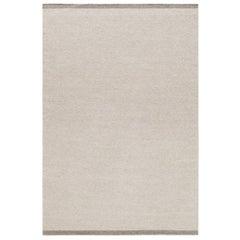 Zero Warm Gray Handwoven Wool Rug