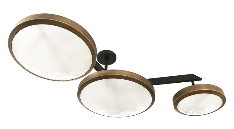 Italian Zeta Ceiling Light by form A- Two Tone Finish For Sale
