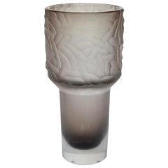 Zeus Grey Murano Glass Vase