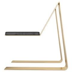 """Zeville """"374"""", Modern Swiss-Made Gold-Plated Chair"""