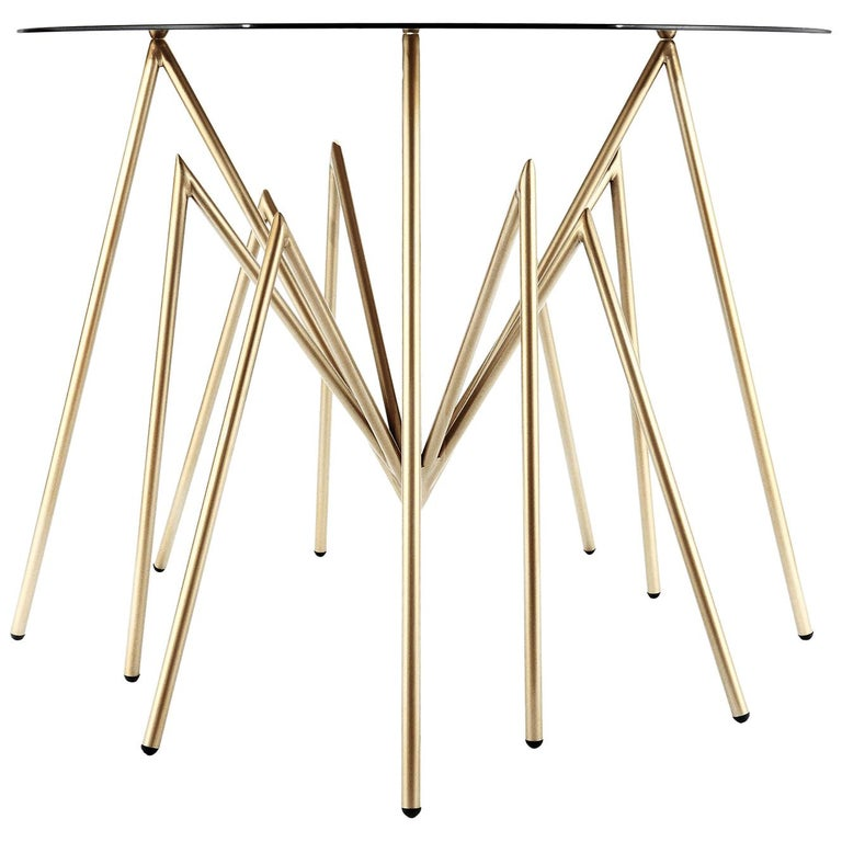 "Zeville ""Ennox 7 Spider"", Swiss-Made Gold-Plated Classic Table For Sale"