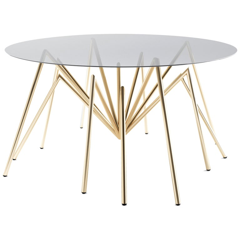 """Zeville """"Ennox 7 Spider"""", Swiss-Made Gold-Plated Lounge Table For Sale"""