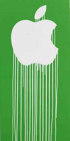 Liquidated Apple - Green and white