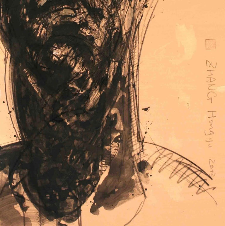 No. 171 (contemporary portrait painting) - Contemporary Painting by Zhang Hongyu