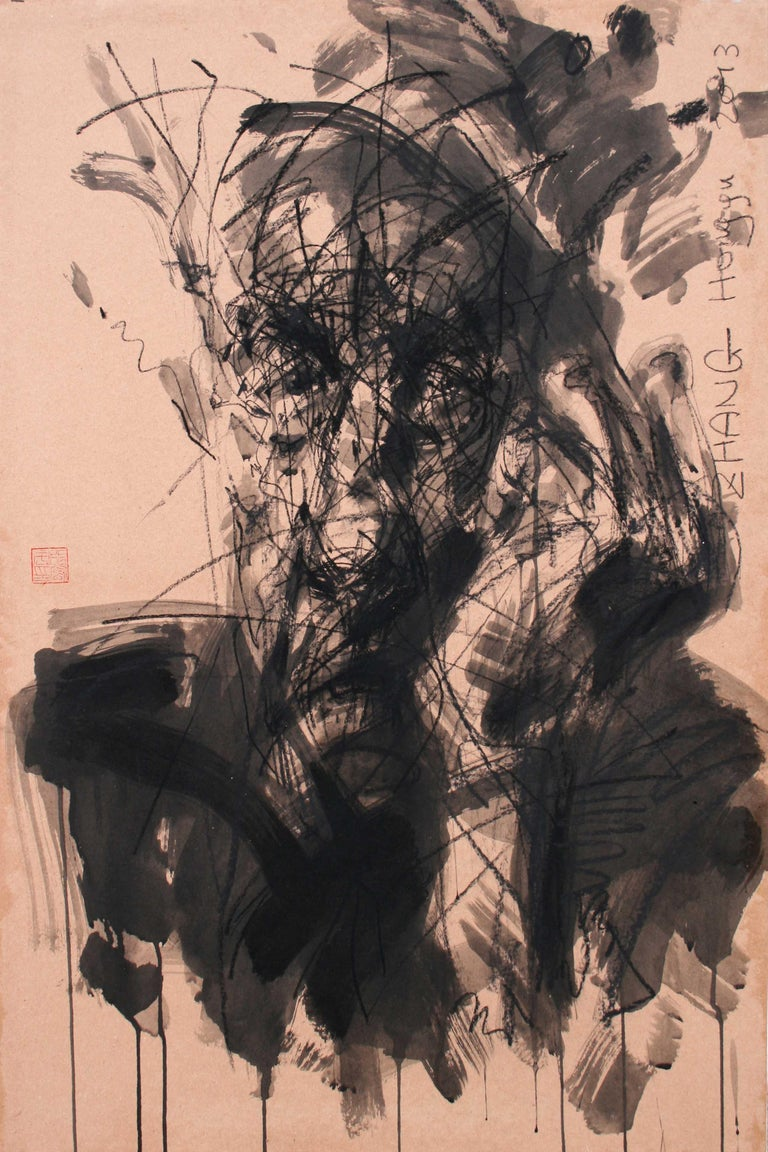 No. 178 (contemporary portrait painting) - Painting by Zhang Hongyu