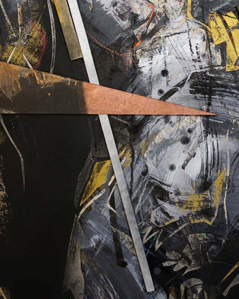 Tribute to Michelangelo III (contemporary painting) - Contemporary Painting by Zhang Hongyu