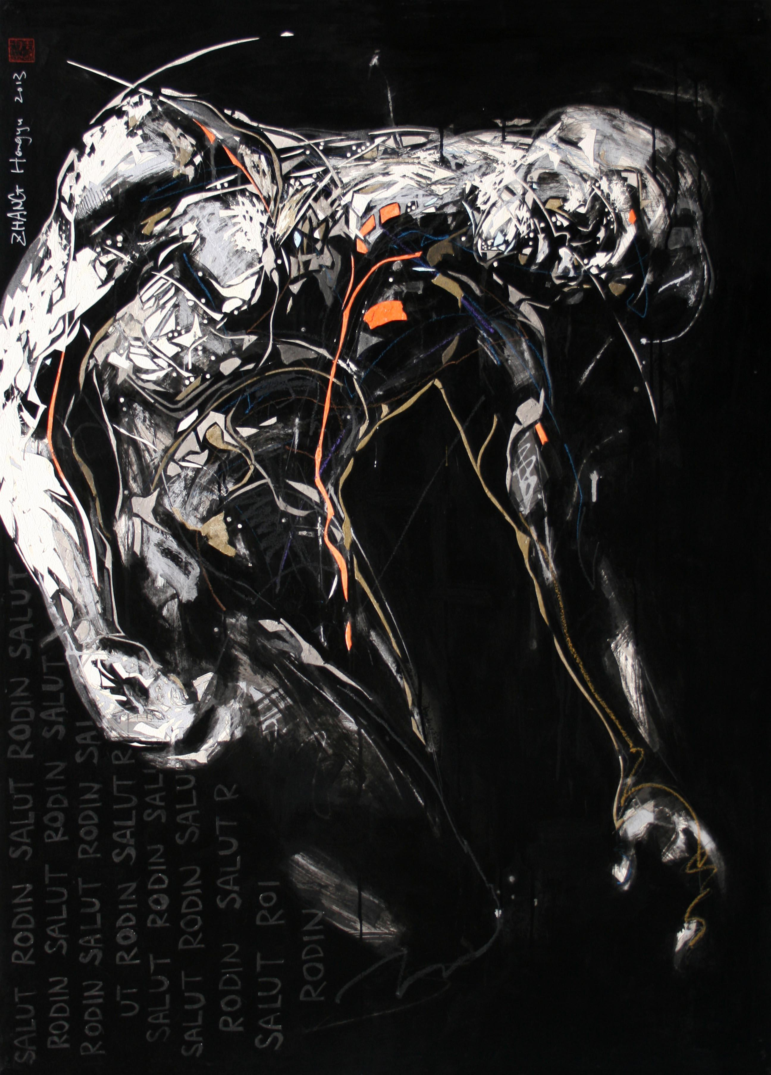 Tribute to Rodin 5 (contemporary painting)