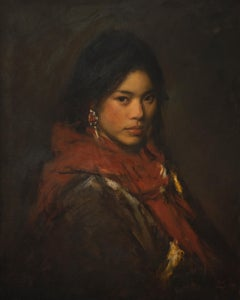 Portrait of a Girl with a Red Scarf