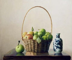 Apples and Ceramic - Original Oil on Canvas by Zhang Wei Guang - 2004