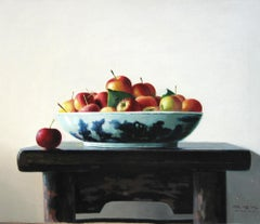 Apples on the Table - Original Oil on Canvas by Zhang Wei Guang - 2008