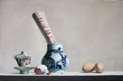 Breakfast - Original Oil on Canvas by Zhang Wei Guang - 2007