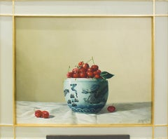 Cherries, Oil on canvas by Zhang Wei Guang - 2000s