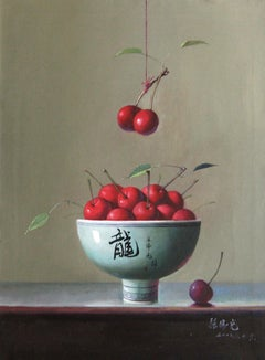 Cherries - Original Oil on Canvas by Zhang Wei Guang - 2000s