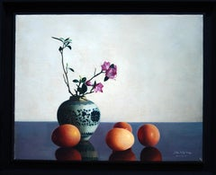 Flowers and Eggs - Original Oil on Canvas by Zhang Wei Guang - 2004