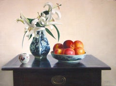 Lillies - Original Oil on Canvas by Zhang Wei Guang - 2004